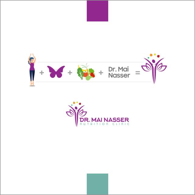 Dr Mai Nasser Logo concept